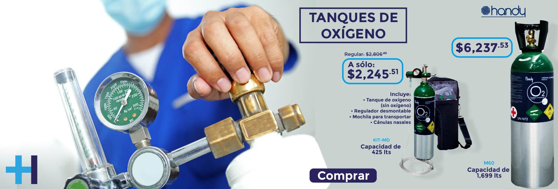 Tanques de oxígeno con descuento (sin oxígeno)